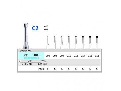 50190 horico tvrdokovovy vrtacek obraceny konus c2104 prumer 1 4mm
