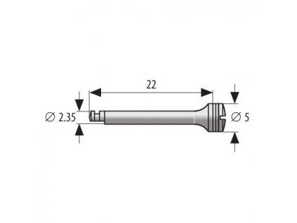Mandrel průměr 5mm - 2,35mm, délka 2,2cm