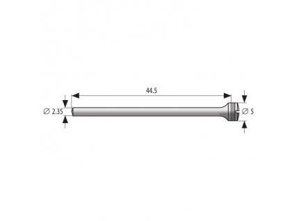 Mandrel průměr 5mm - 2,35mm, délka 44,5mm