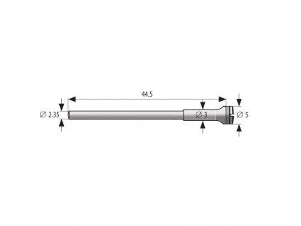 Mandrel průměr 5mm zesílený až 2,35mm, délka 44,5mm