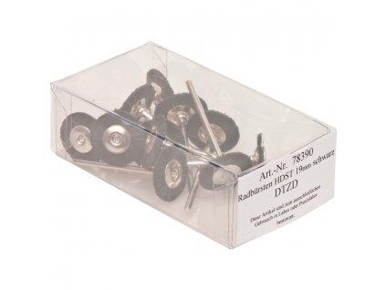Kartáčky, černé štětinky 19mm 12ks