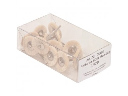 Kartáčky, kozí štětinky 21mm 12ks