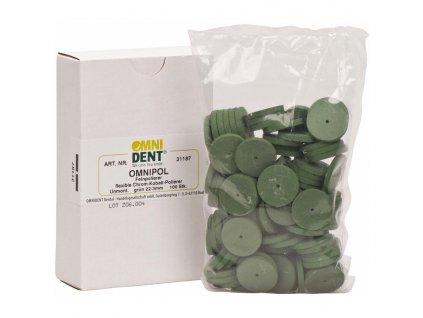 Kov, disk zelený, 100ks