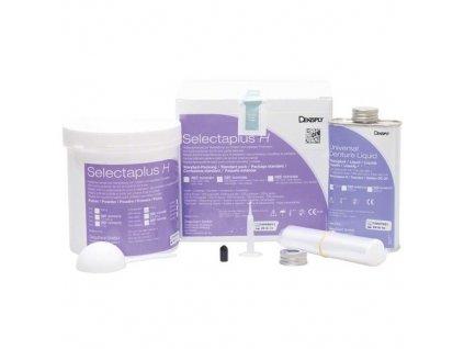 Selectaplus H - pryskyřice pro protézy, standardní balení, růžová žilkovaná