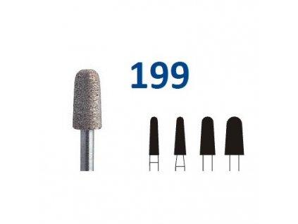 63222 sintrovany diamant cylindr zakulaceny shm199 3 1mm extra hruba