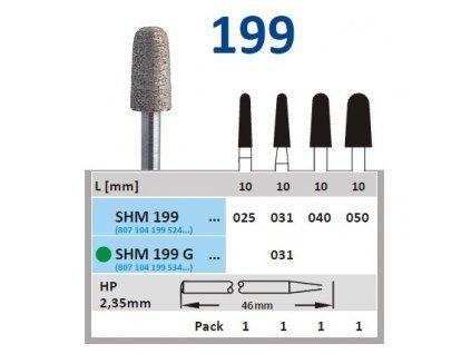 63213 sintrovany diamant cylindr zakulaceny shm199 prumer 2 5mm normal
