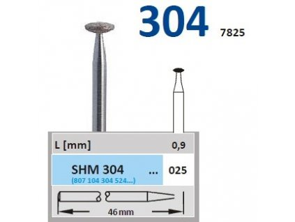 63279 sintrovany diamant cocka shm304 prumer 6mm normal