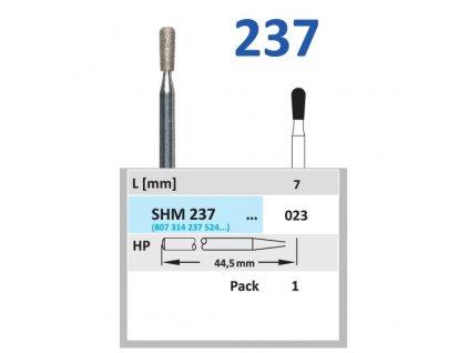 63231 sintrovany diamant hruska shm237 prumer 2 3mm normal