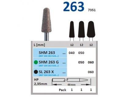 63243 sintrovany diamant konus zakulaceny shm263 prumer 6mm hruba