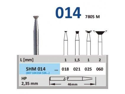 63120 sintrovany diamant obraceny konus shm014 prumer 6mm normal
