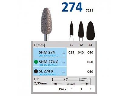 63372 sintrovany diamant vajicko sl274 prumer 6mm zrnitost extra hruba