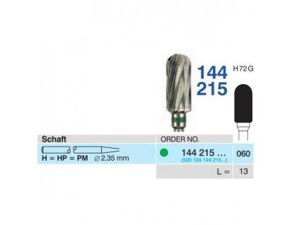 8706 tvrdokovova freza cylindr zakulaceny 144215 prumer 6mm