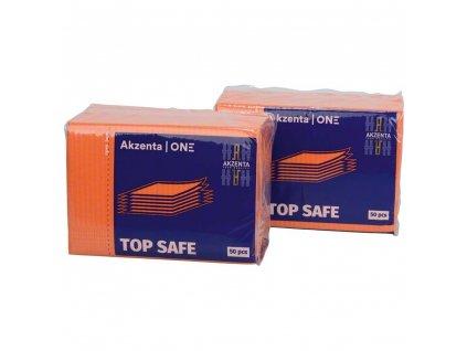 Ochranné roušky (bryndáky) pro pacienty, oranžové