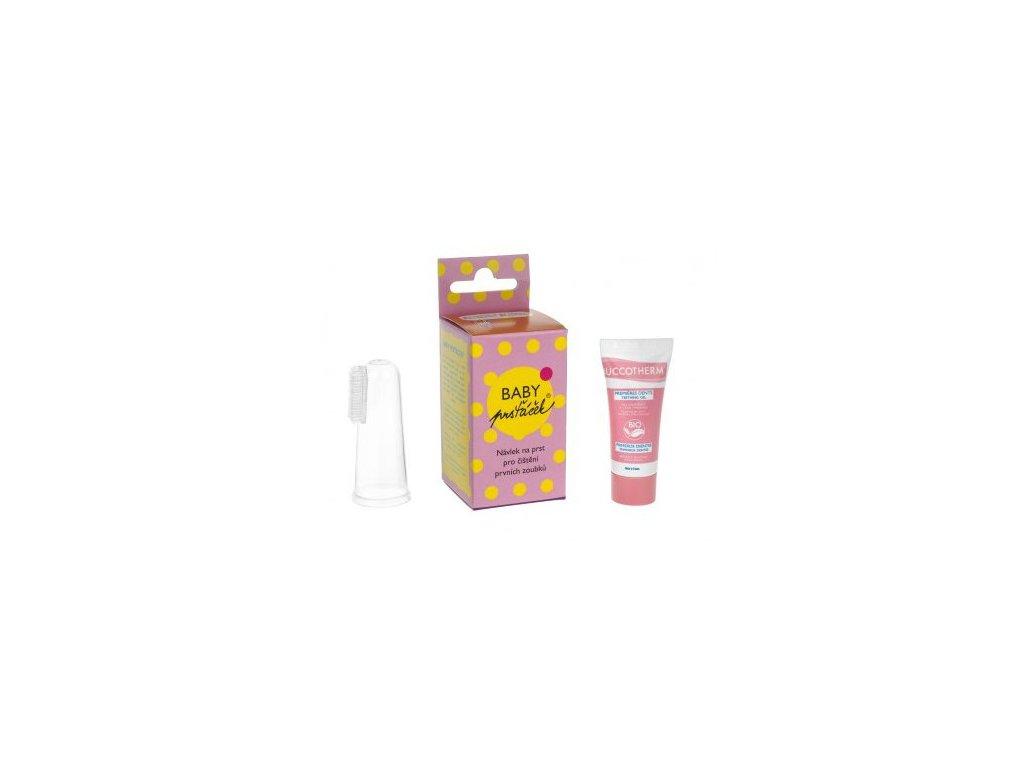 Baby Prsťáček® průhledný + Buccotherm BIO masážní gel pro batolata, 8 ml jako dárek