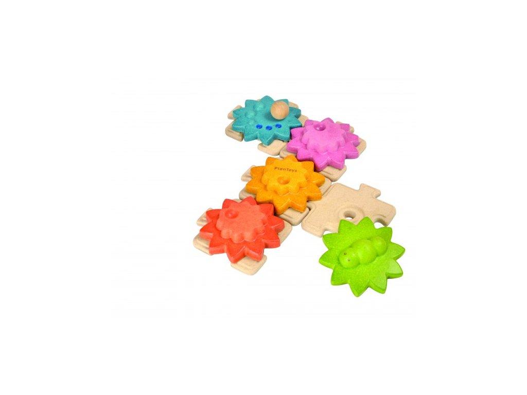 Plan Toys Ozubená kola a puzzle standard