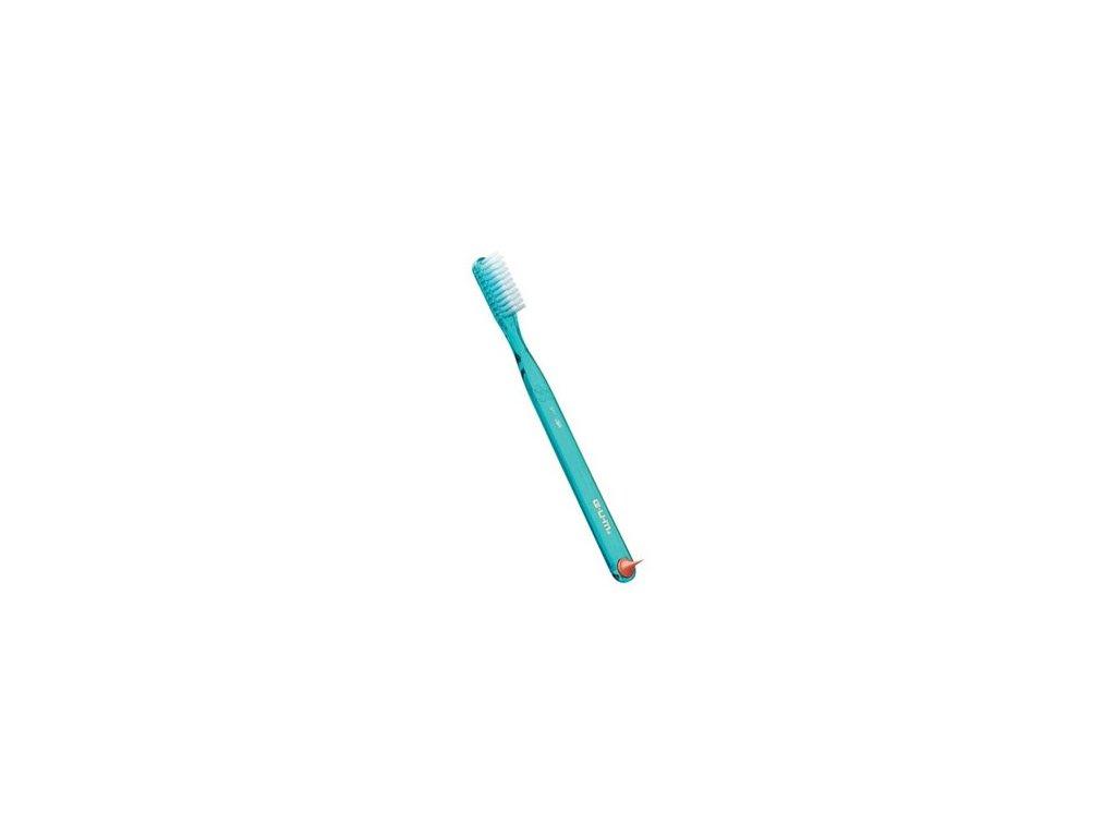 GUM Classic Full Soft zubní kartáček se stimulátorem balený v sáčku