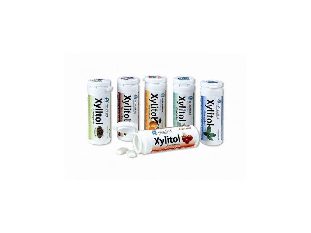 Miradent Xylitol žvýkačky 30 ks ovoce