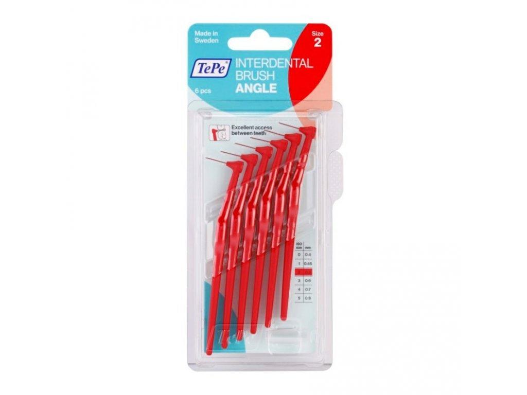 Mezizubní kartáček TePe Angle 0,5 mm, 6 ks baleno v blistru