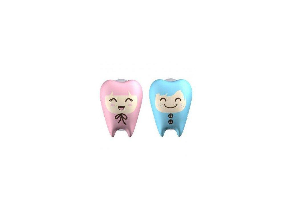 Kryt na zubní kartáček Flipper ToothFairy světle modrý- světle růžový