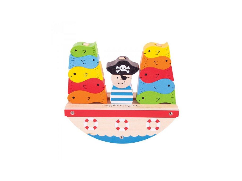 Bigjigs Toys dřevěná hra - Pirát rybaří