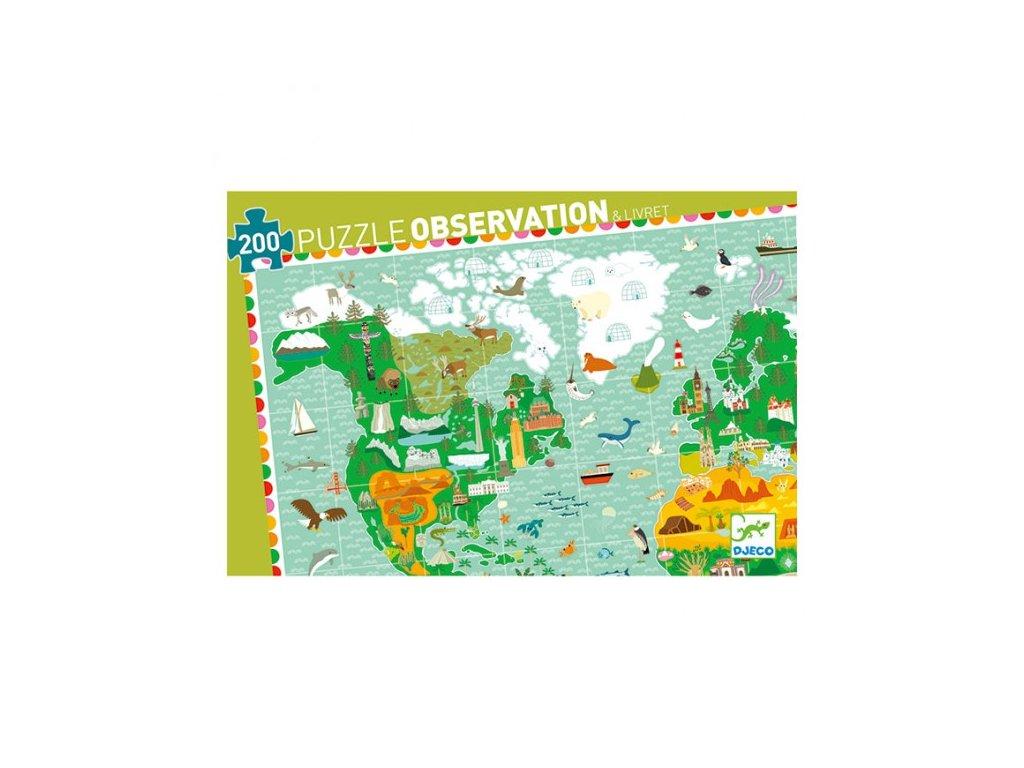 Djeco Puzzle Kolem světa