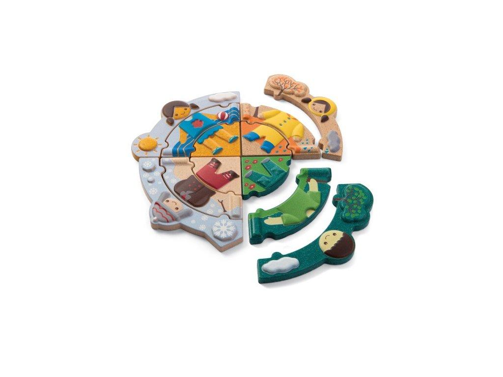 PlanToys PT5666 Puzzle Oblékání podle počasí