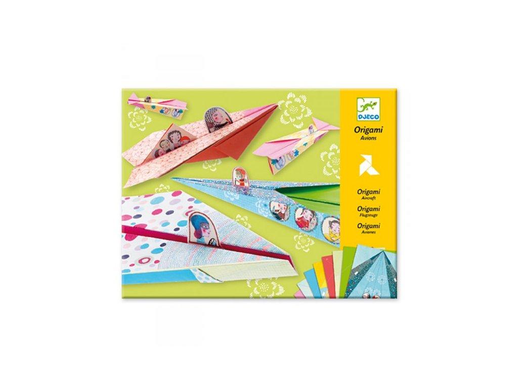 Djeco Origami skládačka letadla - dívčí