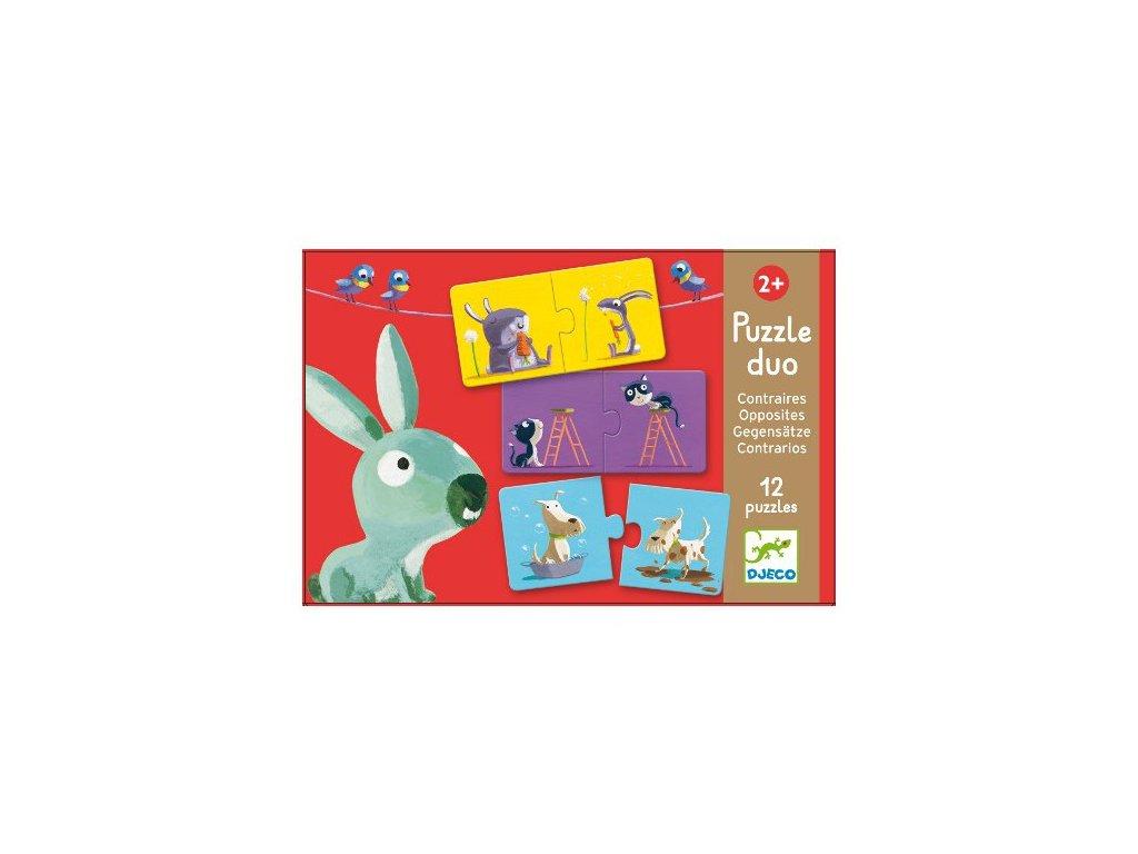 Djeco Duo puzzle protiklady hra pro děti Djeco DJ08162