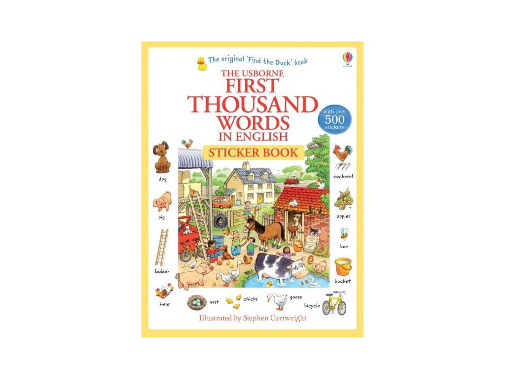 USBORNE FIRST THOUSAND WORDS IN ENGLISH STICKER BOOK