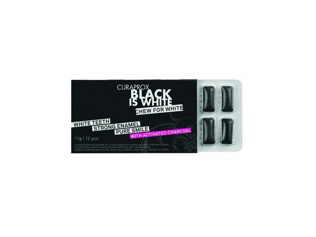 Black Is White žvýkačky 12 ks