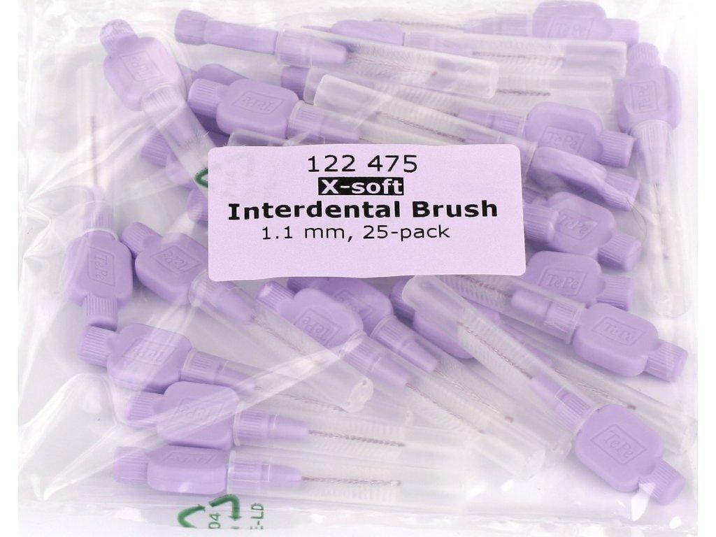 TePe mezizubní kartáčky Extra soft 1,1 mm světle fialové 25 ks