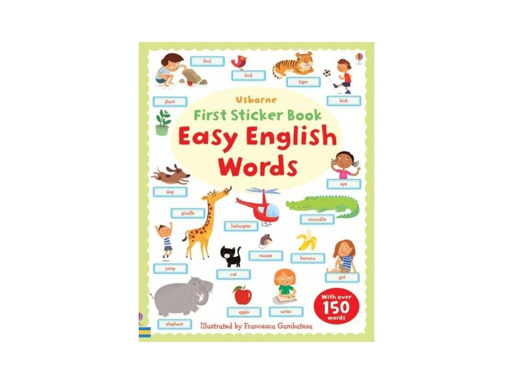 Usborne First Sticker Book Easy English Words