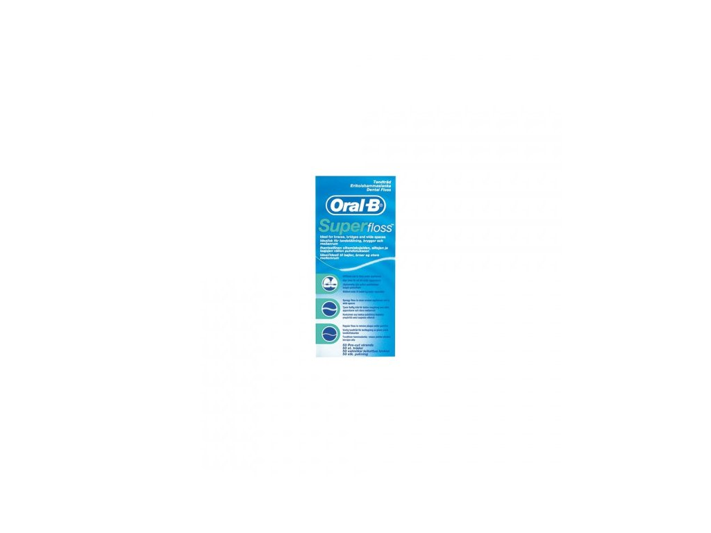 Oral-B Superfloss pro čištění rovnátek, můstků a implantátů, 50 ks