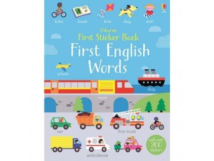 Usborne First Sticker Book First English Words