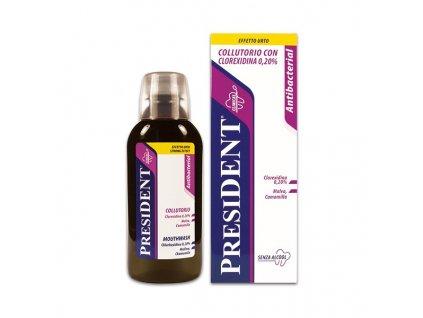 PresiDENT Antibacterial – ústní voda s Chlorhexidinem 0,2 %, 250 ml
