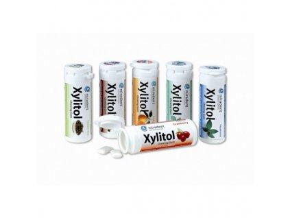 Miradent Xylitol žvýkačky 30 ks brusinka