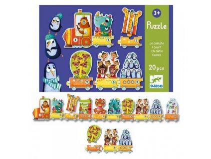 Djeco Puzzle Trio Kolik nás je? 20 dílků