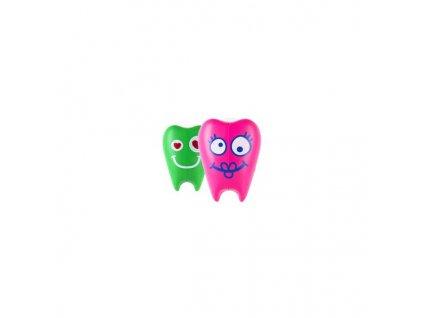 Kryt na zubní kartáček Flipper ToothFairy zelený-růžový