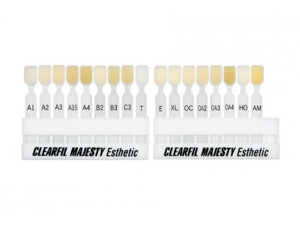 Clearfil majesty esthetic shade guid