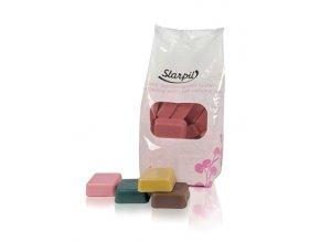Starpil Depilační vosk růžový - kostky s nízkým bodem tání 1000 g