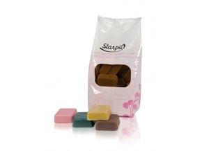 Starpil Depilační vosk čokoládový - kostky s nízkým bodem tání 1000 g