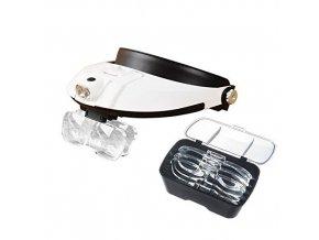 Diagnostické brýle LED s lupou