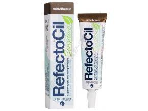 RefectoCil Barva na řasy a obočí Sensitive středně hnědá 15 ml