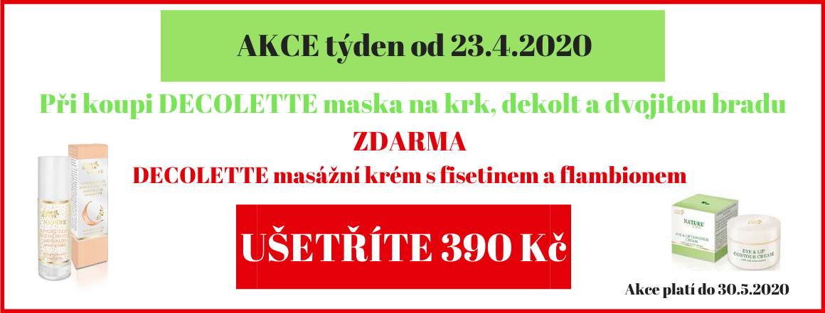 DECOLETTE MASKA + DECOLETTE masážní krém ZDARMA
