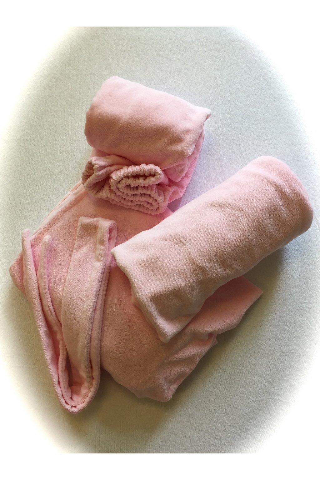 Kosmetické prostěradlo s gumou - růžové