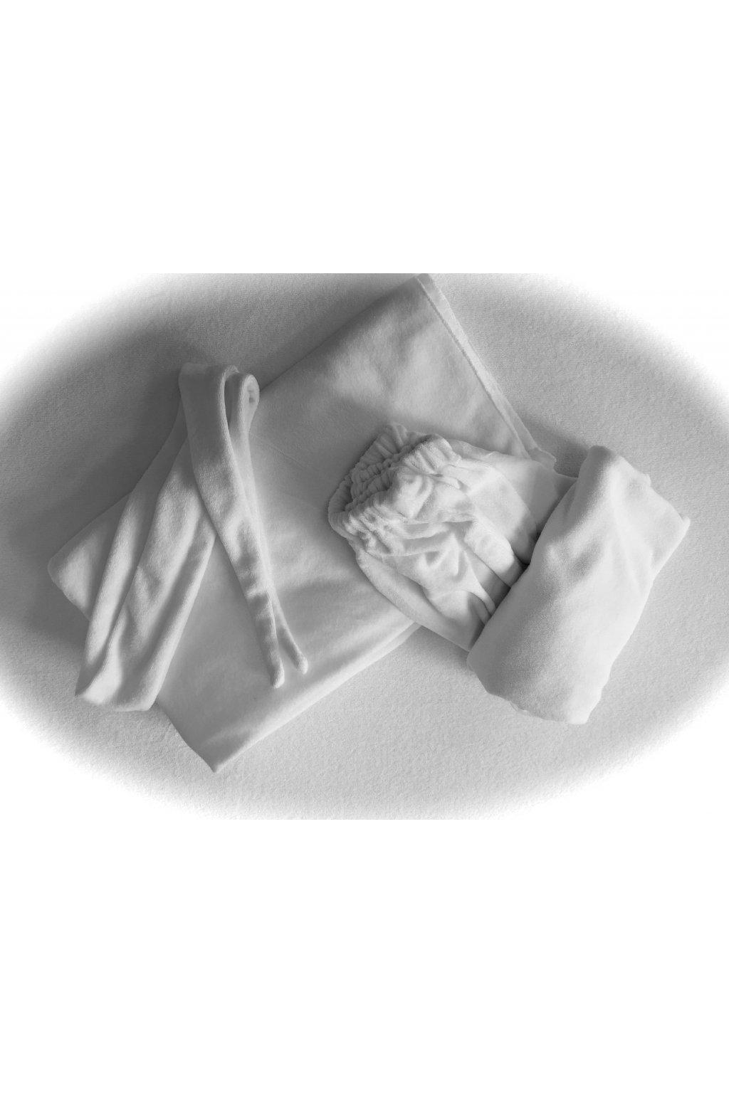 Kosmetická pokrývka pro klientku - bílá