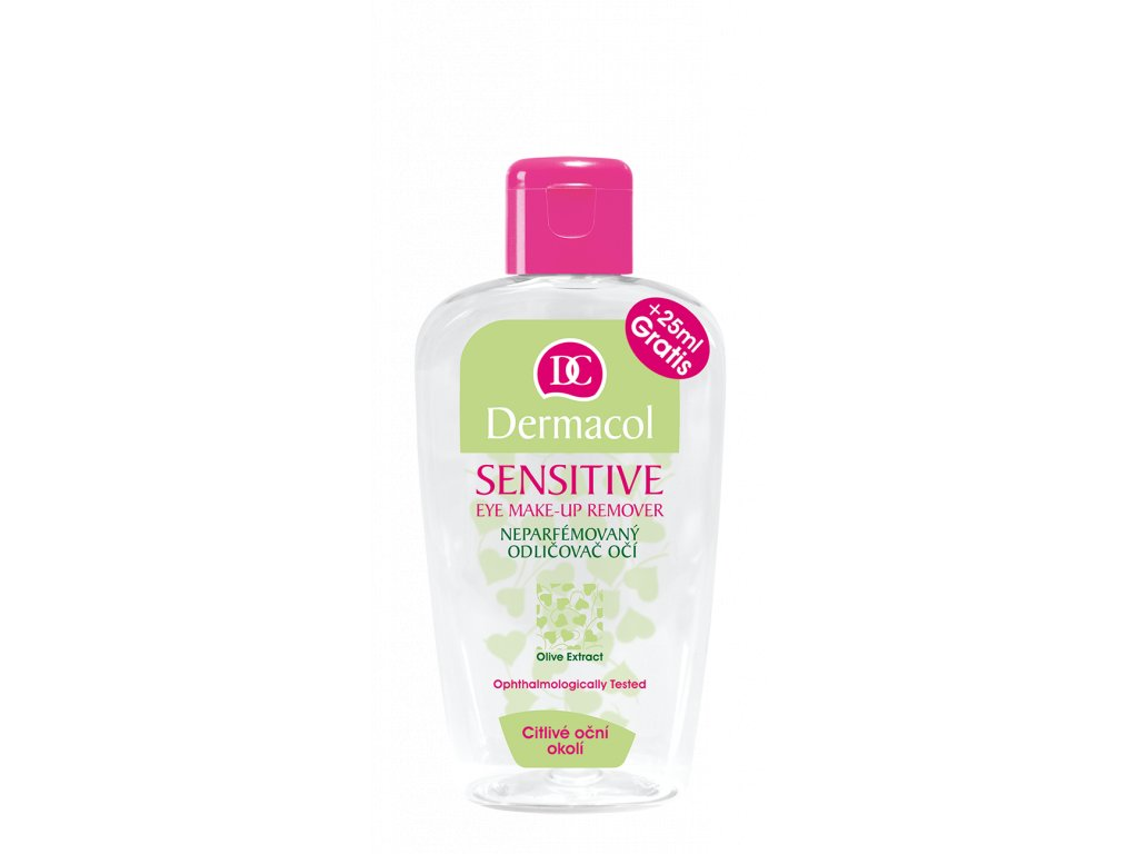 Sensitive eye make-up remover