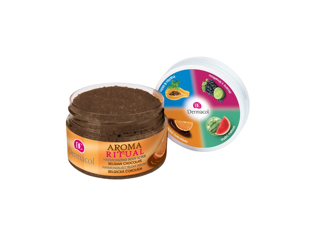 Aroma ritual harmonizing body scrub belgian chocolate