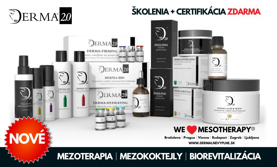Kompletná ponuka prémiových produktov Derma 2.0│mezoterapia