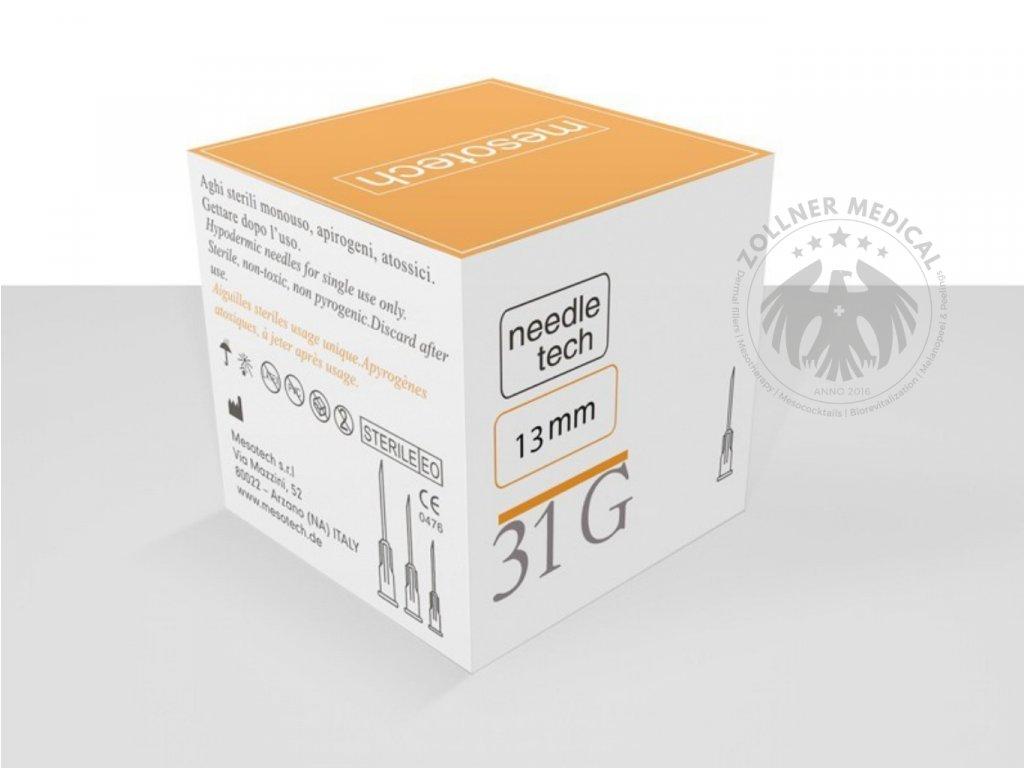 Needletech 31G, Mezoterapia, hypodermic needle 100pcs, 13mm